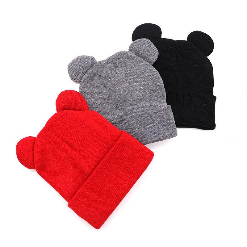 1pcs Hat Female Winter Caps Hats For Women Devil Horns Ear Cute Crochet Braided Knit Beanies Hat Warm Cap Hat Bonnet Homme Gorro 2
