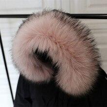 MIARA.L hot sale item of faux fur fox scorpion collar hats single buy tops down coat fake black color for wholesale
