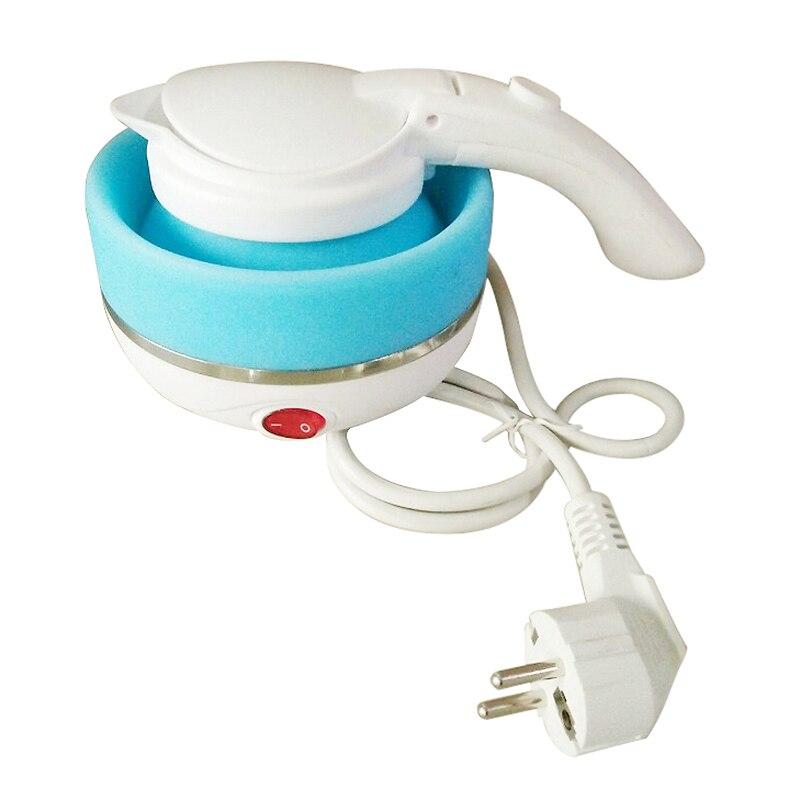 0.75L Elektrische Wasserkocher Silikon Faltbare 680 watt Tragbare Reise Camping Wasser Kessel Einstellbare Spannung Home Elektrische Geräte-