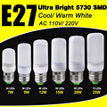 Super Efficient Bombillas Milky Cover 5730SMD E27 AC 110V/220V LED Corn Bulb Warm/Cold White 7W 9W 12W 15W 20W 25W