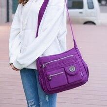 2019 Multi Zipper Pockets bag women Ladies Casual Nylon Handbag Waterproof Women Shoulder Bag Travel Messenger Crossbody bags недорого