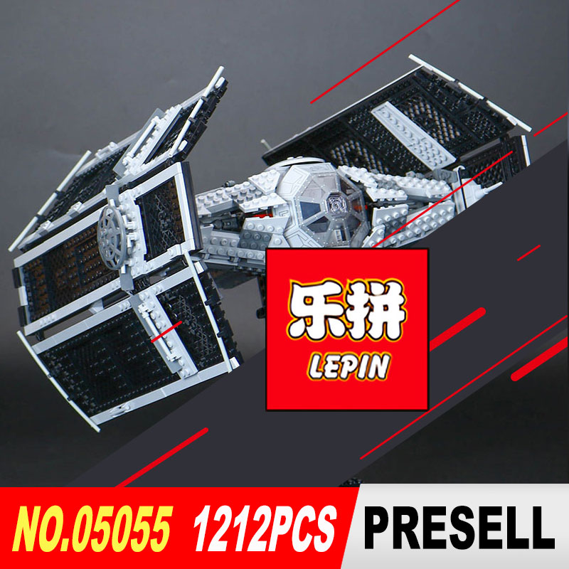 LEPIN 05055 Star legoed Wars Vader TIE advanced fighter aircraft Model Building Blocks Bricks toy Compatible to Children Toys lepin 05060 star series wars ucs naboo star type fighter aircraft model building blocks bricks compatible legoed 10026 toy gifts