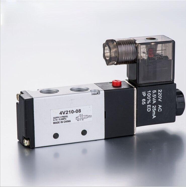 110v ac 4v210-08 airtac solenoid valve airtac 4v210 08 solenoid valve original 4v210 08 airtac genuine ac220v 24v