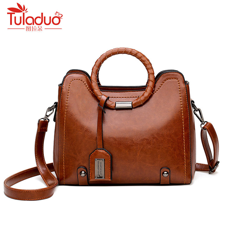 Wax Oil Leather Bag Ladies Hand Bags Women Leather Handbag Designer High Quality Woman Crossbobady Women Famous Brand Sac A Main сумка через плечо bolsas femininas couro sac femininas couro designer clutch famous brand