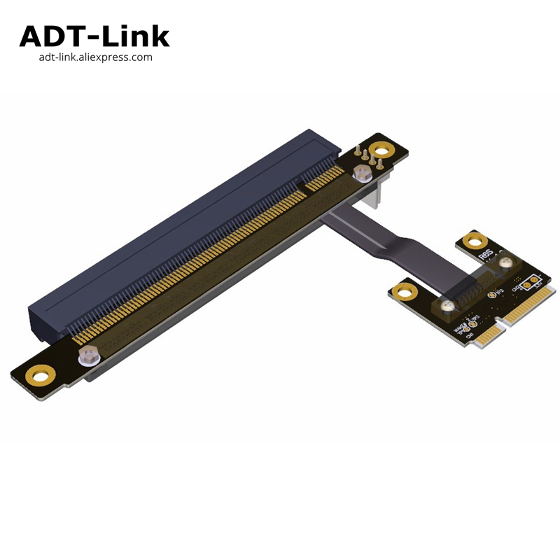 128Gbps Mini PCI-e mPCIe WAN WiFi To PCIe x16 PCI-E 16x Riser adapter Gen3.0 Mini-PCIe Ribbon cable Mini pci e for WIFI card mini pci e to pci riser card industrial control motherboard mpcie to pci slot expansion cards external acquisition card adapter