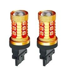 2 шт. 3157 3156 супер яркий 1000LM 15 SMD 3030 светодиодный Янтарный сигнал поворота белый P27W T25 автомобильная лампа заднего хода красный P27/7 W Автомобильный тормозной светильник