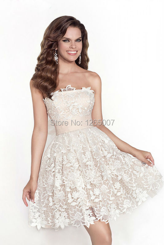 Popular Ivory Semi Formal Dresses-Buy Cheap Ivory Semi Formal ...