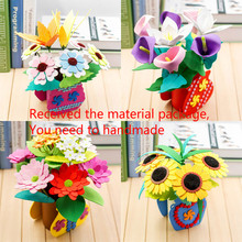 Здесь можно купить  Children DIY production artificial flowers package Non-finished products Kindergarten Puzzle EVA Handmade potted festive Gifts