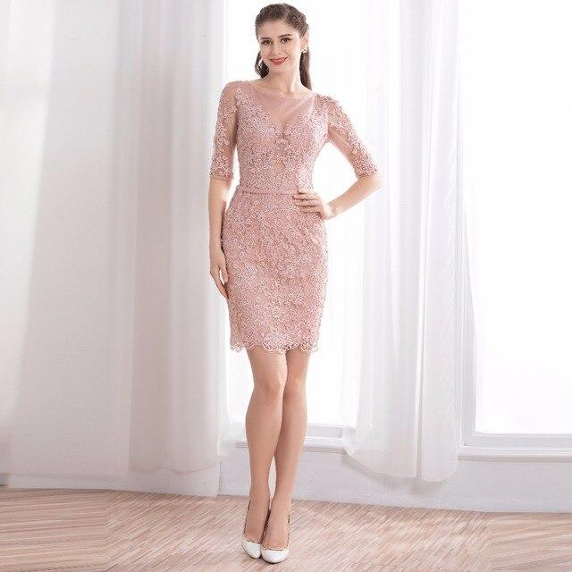 Formal Vestidos de Noche Siempre Pretty 2018 Elegante rosa de encaje ...