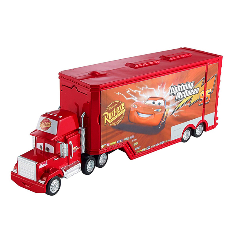 Disney Pixar Cars Car 3 McQueen Uncle Mack Container Truck Diecast Plastic Child Toys Birthday Christmas Gift For Kids Cars Toys