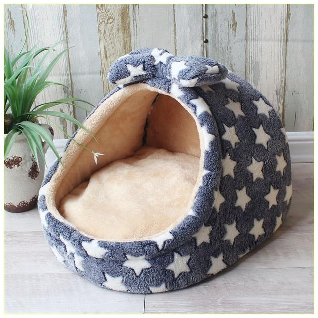 Pet Bed Dog House Kennel Doggy Basket Cuscino Caldo per Cani di Piccola Taglia Media di Modo Fragola Cave Gatto Tenda Cucciolo Nido zerbino