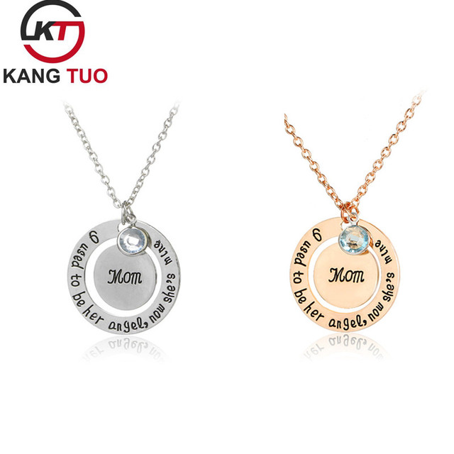 410e213b3b5c4 US $14.74 9% OFF|News Hot Creativity Mother's Father's Day Mom Dad Letter  Pendant Necklace Fashion Alloy Jewelry For Mummy Daddy Gifts 12pcs/lot -in  ...