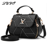 2017 Fashion Woman Embroidery Thread Geometry Small V Style Saddle Luxury Handbags Women Famous Brands Messenger