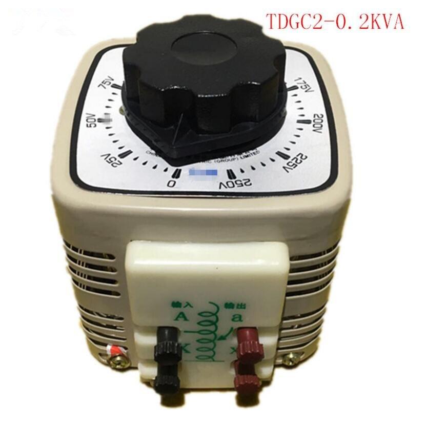 купить Voltage converter 200W single phase small-scale 220 check table self coupling adjustable transformer TDGC2-0.2KVA по цене 1971.93 рублей