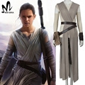 2017 star wars disfraz adulto la fuerza despierta rey cosplay carnival costume party star wars rey traje hecho a medida