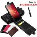Классический Роскошный Расширенный Верхняя Кожа Флип Кожа case Для ZTE Blade L370/ZTE L 370 Телефон Обложка Case С Карт памяти