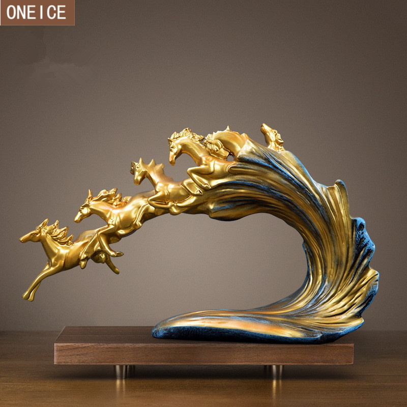 Resin Crafts Horse Statue Home Decoration Accessories Ornaments