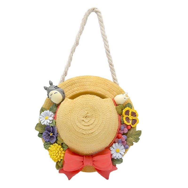 14.5cm Studio Ghibli Miyazaki Hayao May Hat Totoro Creative Flowerpot Resin Action Figure Collection Model Toys For Home Decor