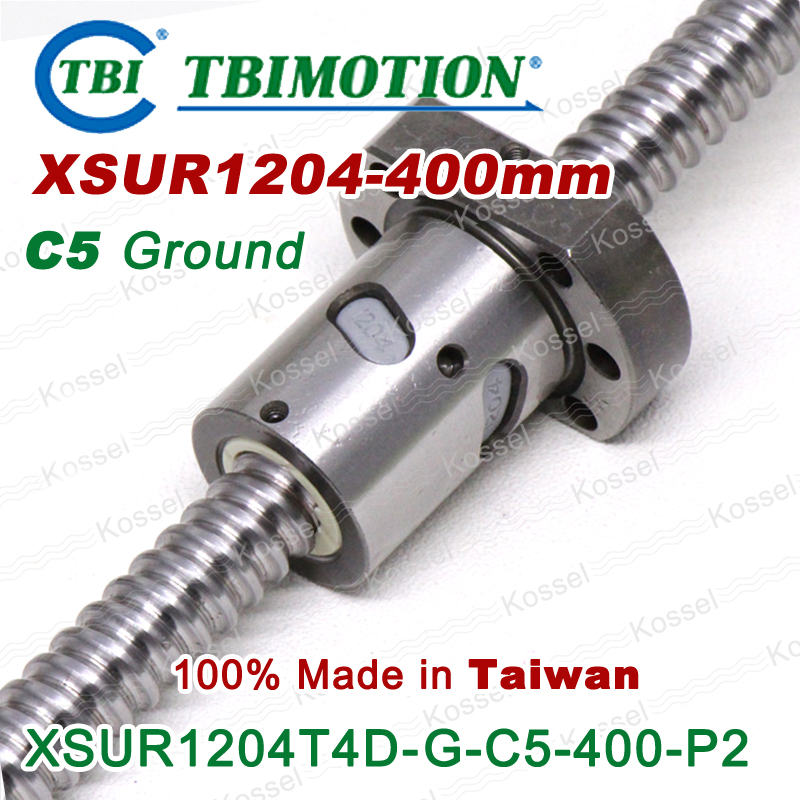 TBI 1204 C5 400mm ball screw with XSU1204 SFU1204 4mm lead screw nut of XSU set end machine for high precision CNC kit tbi ball screw 2005 c7 1000mm with 5mm lead without flange ballnut bsh2005 for cnc kit backlash