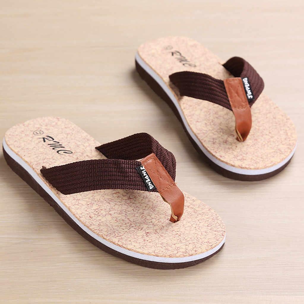 ผู้ชายฤดูร้อน Breathable ในร่มหรือกลางแจ้ง Flip Flops สบายรองเท้ากันลื่นรองเท้าแตะ