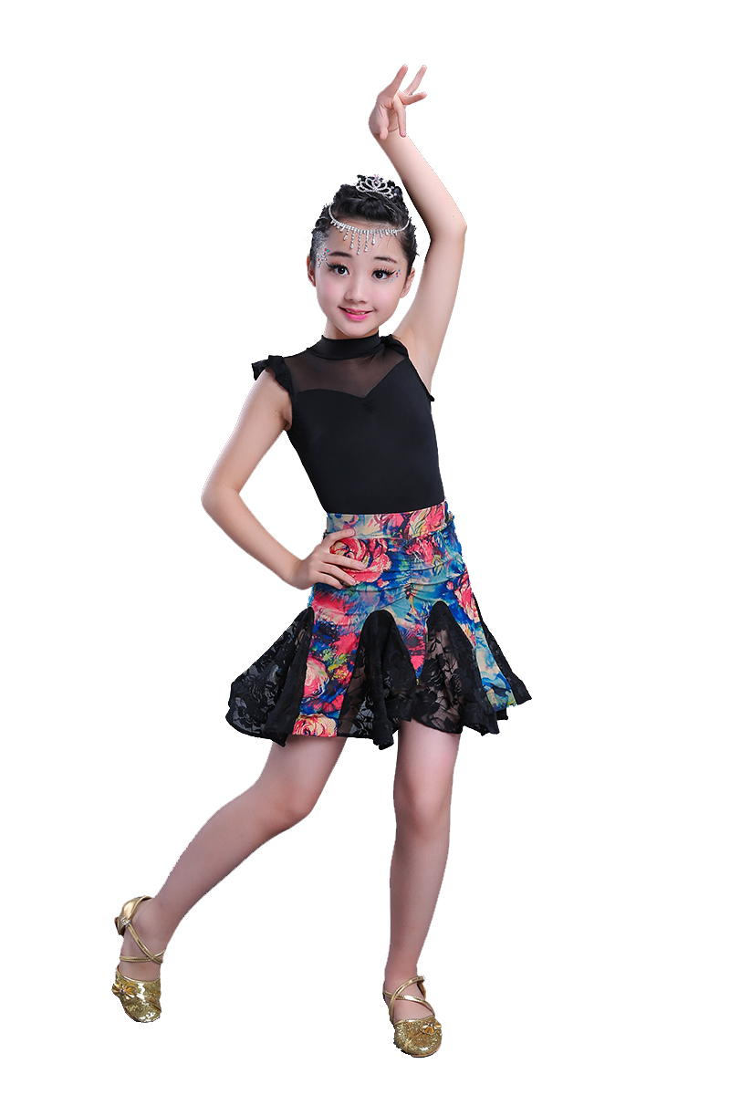 Latin Dance Dress for Kids Ballroom Tango Samba Salsa Dance Competition Dresses Modern Waltz/tango / Cha Cha Costumes