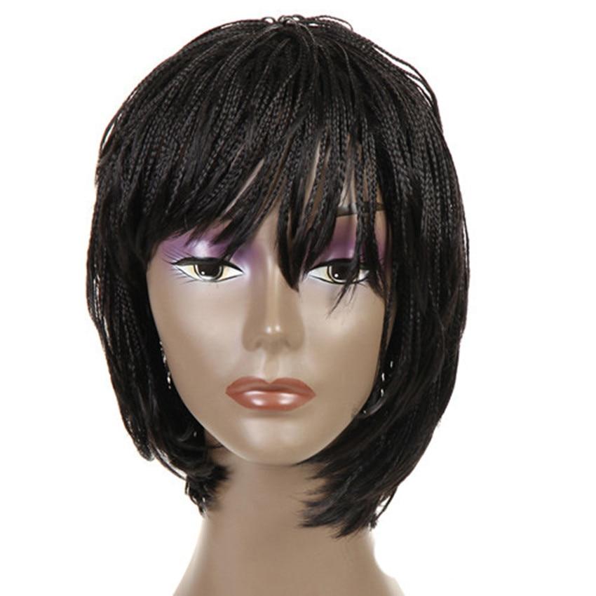 Feibin ganchillo trenza pelucas para mujeres negras de pelo sintético africano senegalés envío gratis