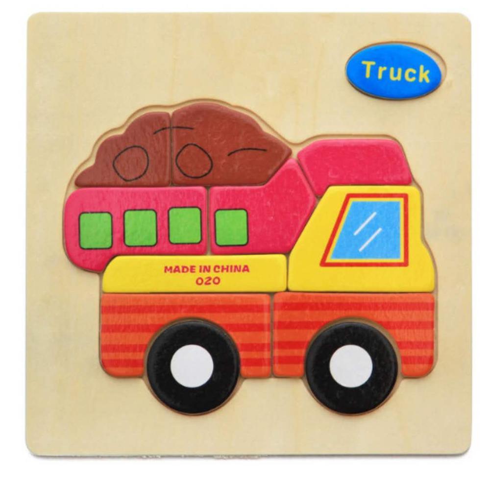 3D деревянные головоломки, игрушки для детей, Деревянные 3d Мультяшные головоломки с животными, интеллектуальные детские развивающие игрушки для детей - Цвет: Шоколад