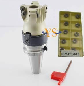 New BT30 M12 FMB22+EMR 5R 63-22-4T 4Flute Face end mill +10pcs 5R RPMT1003 carbide insert CNC Mill new m16 mt4 fmb22 bap400r 63 22 4t face end mill 10pcs apmt1604 carbide inserts cnc mill
