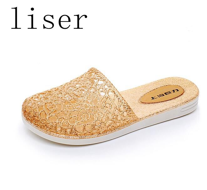 Detail Feedback Questions about liser Crystal Jelly Sandals Shoes Women  Summer Slippers Shoes Slides Baotou Flip Flop Female Footwear Non slip  Beach Flat ... f658a0fff2f2