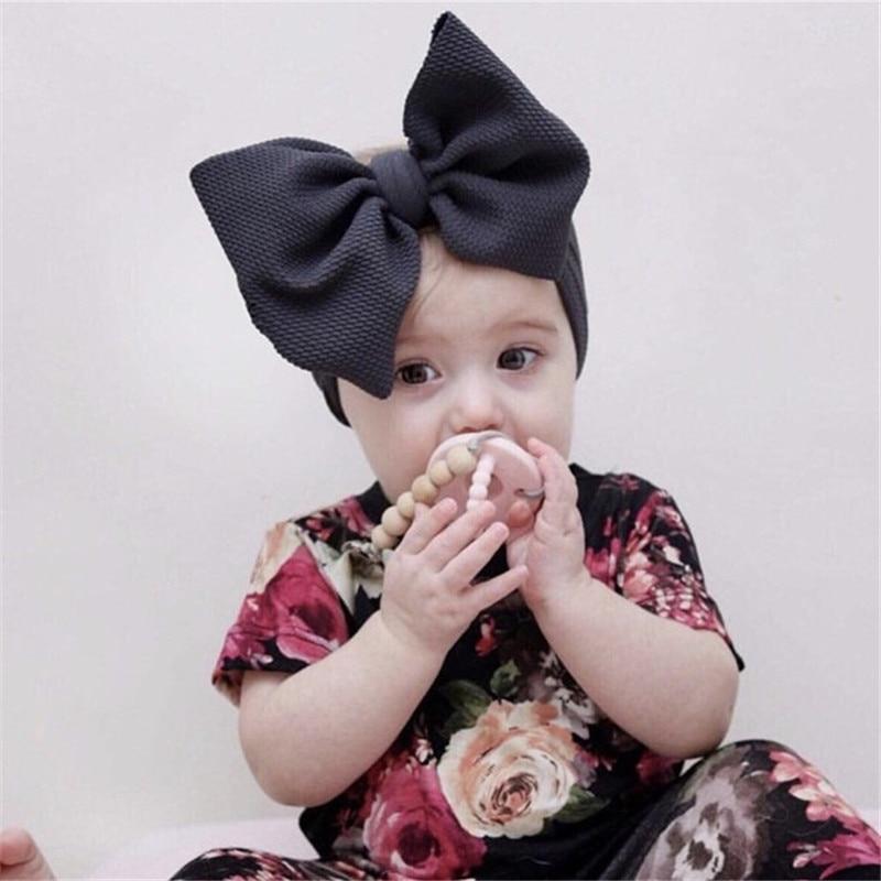 Arco grande ajustável headwrap bebê bandana topo nó headbands mais de tamanho arco do cabelo turbante recém-nascido cabeça banda menina grandes arcos de cabelo