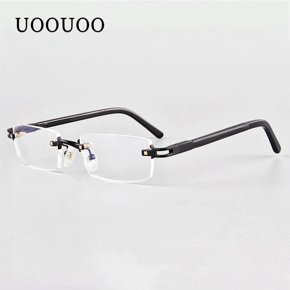 UOOUOO myopie lunettes de prescription menwith MR-7 CR39 lentilles sans monture anti blue ray lunettes indice 1.67 lentille 2750