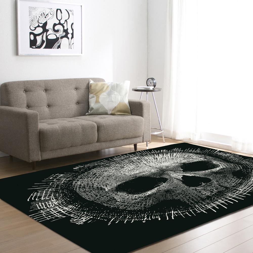 2017 Creative Skull Delicate Europe Soft Carpet For Living Room Bedroom Kid Play Delicate Rug Home Floor Fashion Study Room Mat