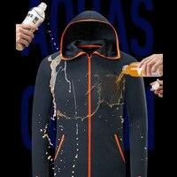 Angeln Kleidung Anzug Neue Nano Tech Wasserdichte Anti fouling Atmungs Männer T shirt Casual Kleidung Outdoor Camping Mit Kapuze Jacken-in Anglerbekleidung aus Sport und Unterhaltung bei
