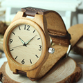 BOBO BIRD Men's Bamboo Watches With Genuine Cowhide Leather Band Luxury Wood Watch for Men as Gifts