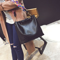 Bolsos Mujer 2017 Bucket Tote Bag Luxury Brand Leather Crocodile Women Handbag Shoulder Bag Famous Designer Crossbody Bags Sac