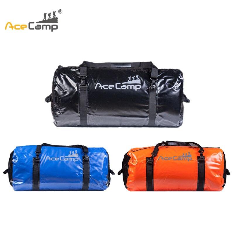 90L AceCamp sac étanche étanche kayak Rafting rivière Trekking Camping en plein air randonnée Sports PVC sacs de rangement pliants