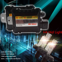 2 Pcs H4 Car Headlight Hid Xenon Kits Light Bulbs 2 Xentec 55W Hid Ballasts Car