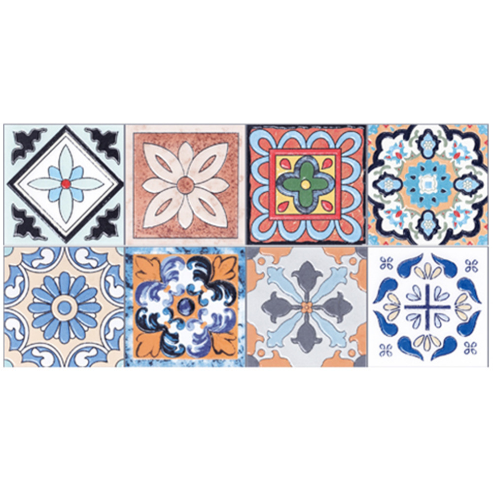 1 Roll 0.2x5m Retro Mosaic <font><b>Tiles</b></font> Stickers Waist Line Wall Sticker Kitchen Bathroom Toilet Border Waterproof Self adhesive Decals