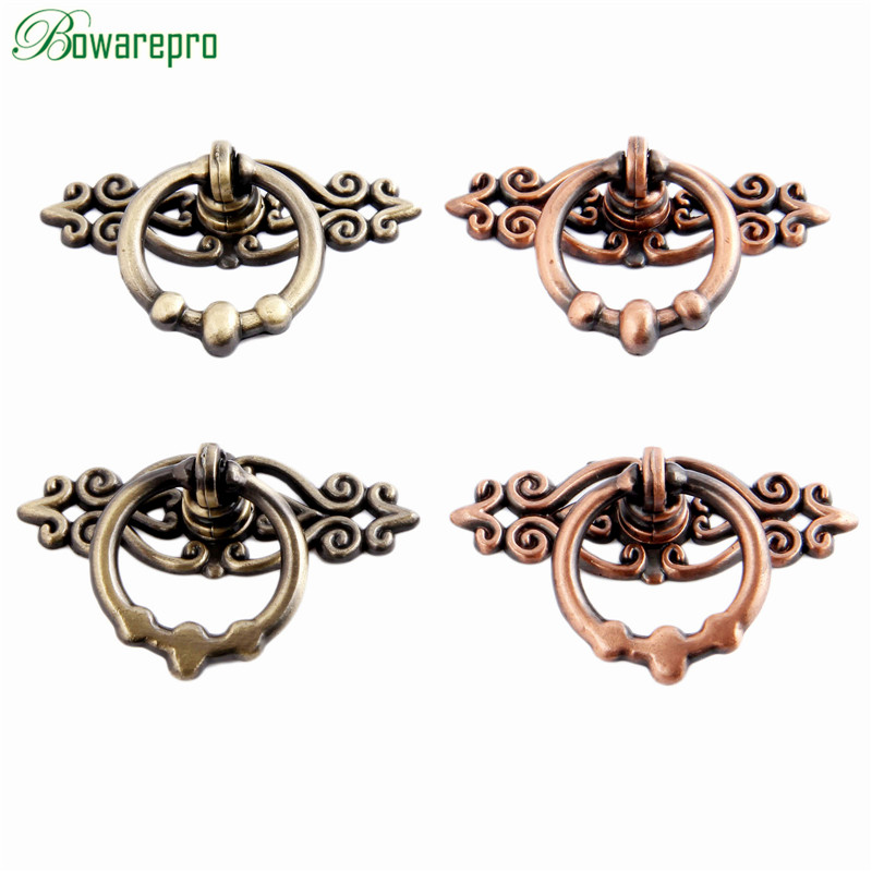 bowarepro Antique Drawer Knobs Handles Pull Cabinet Handles Cupboard Pulls Cabinet Furniture Door Knobs Hardware 28/34MM 2PCS new 2pcs lot 304 stainless steel handles hidden recessed invisible pull fire proof door handles cabinet knobs furniture hardware
