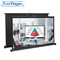 TouYinger 50 inches 16:9 TSH50 table Screen/Mico mini led Projector Portable Screen Easy to carry for Private cinema meeting