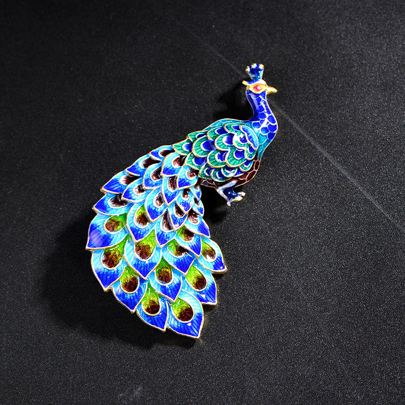cloisonne enamel color 925 silver Enamel Jewelry Shaolan peacock Brooch кружка enamel lichen page 5