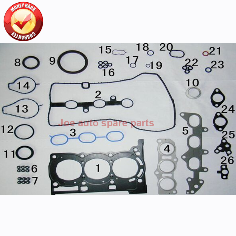 1KRFE 1KR Engine Full gasket set kit for Daihatsu SIRION STORIA Toyota AYGO YARIS VITZ VIOS Citroen C1 Peugeot 107 1.0L 50257000