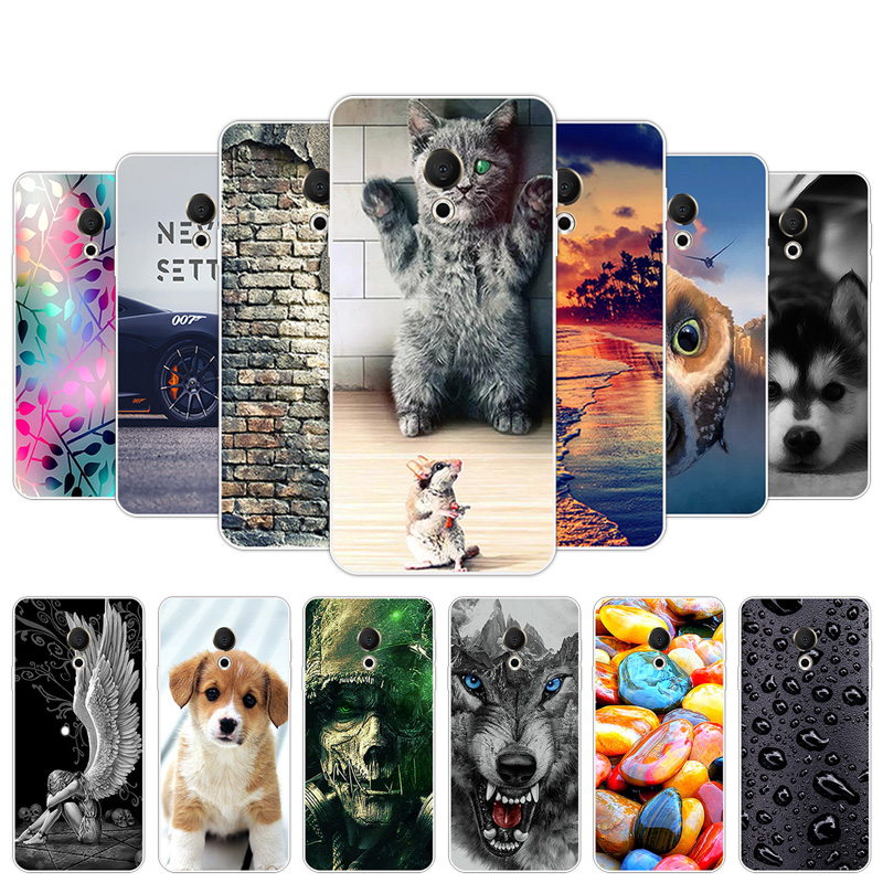 Luxury Gel Clear TPU Phone Cases for Meizu 15 Lite 5.46 inch Shells Soft TPU Slim Back Cover for Meizu M15 Full Protection Coque
