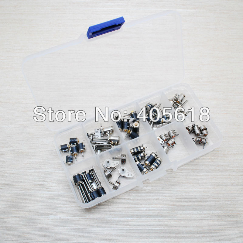 Mini motor 50pcs 4 Wire 2 Phase micro stepper motor Ten Types with Plastic Tool Box ten wow 188g 2 page 2