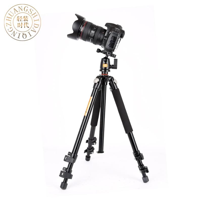 ФОТО QZSD king high quality camera tripod , foldable digital camera mount with panoramic ball head, adjustable  camera kit
