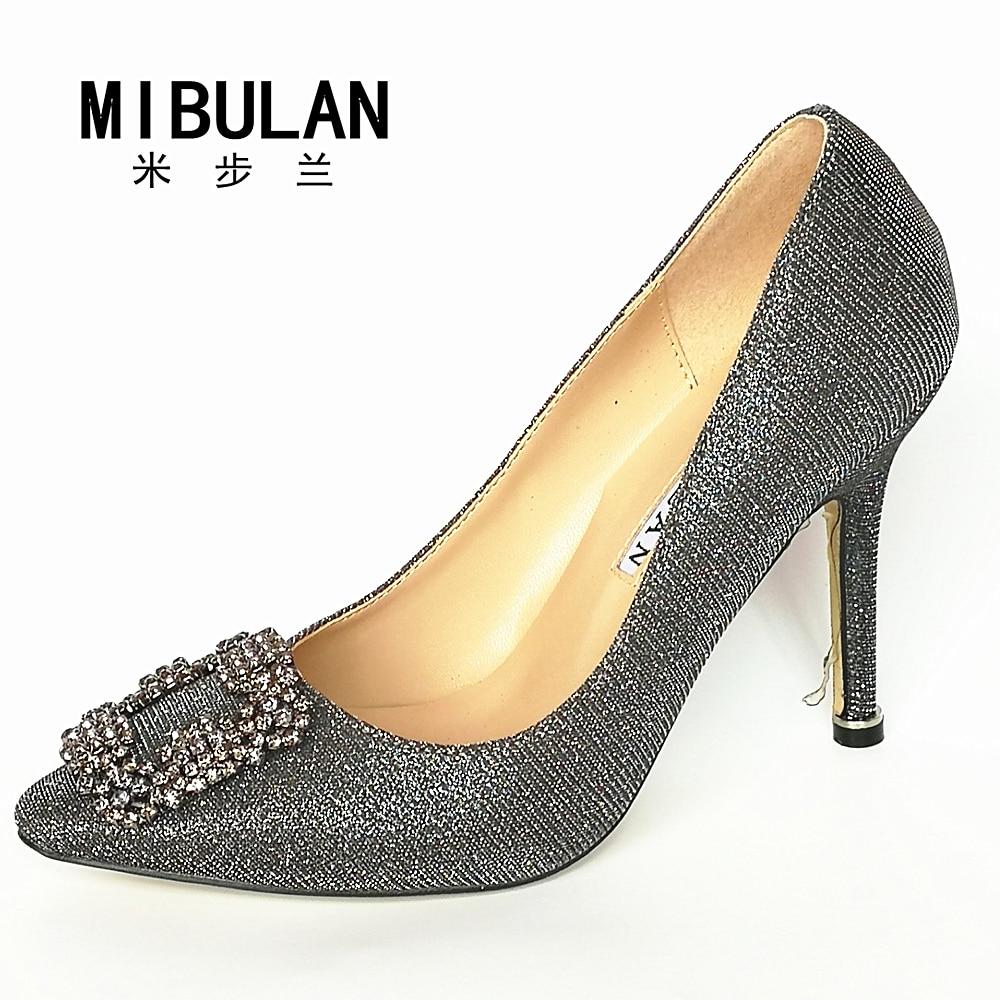 Brezplačna dostava 2016 klasične svilene madeže diamantne zaponke - Ženski čevlji