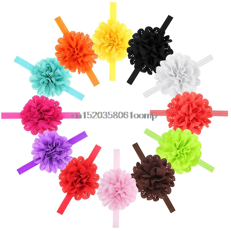10Pcs Girl Kids Baby Infant Toddler Bow Flower Headband Hair Band Headwear Gift