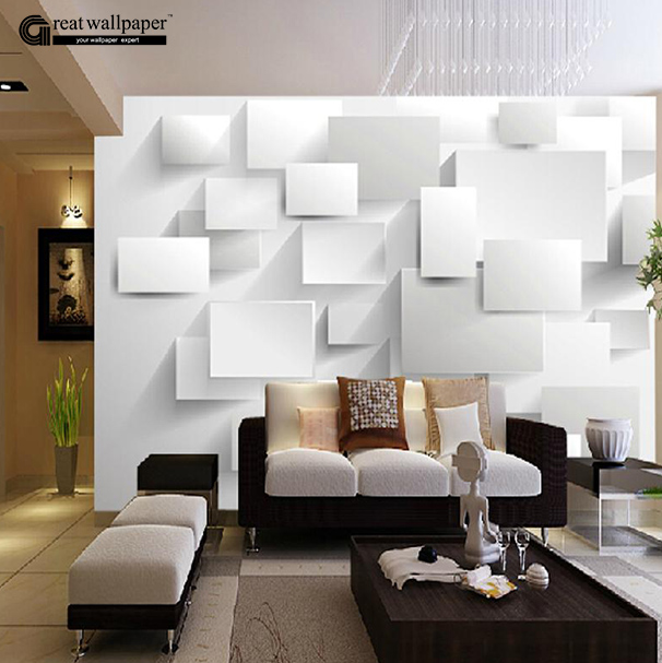 Great Wall 3D Large Wall Murals For Living Room Three Dimensional Box  Wallpaper,3D