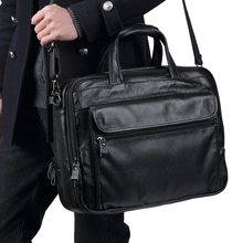 TRASSORY Genuine Leather Mens Briefcase Business Retro Handbag15.7 Inch Computer Laptop Bag Men Messenger