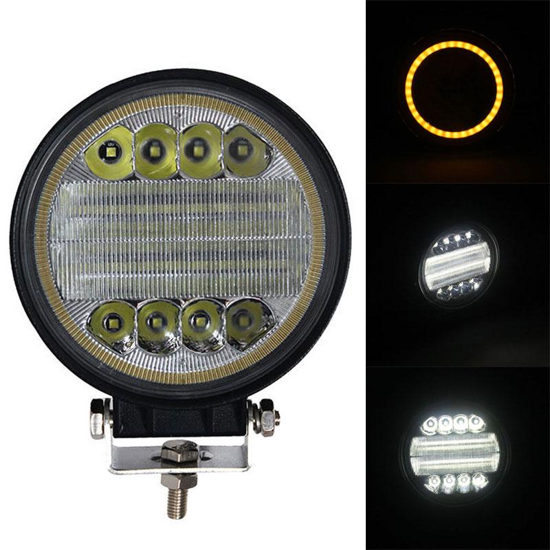 2018 nouveau 30 W LED camion Offroad conduite travail lumières barre avec Halo anneau Angle yeux pour Jeep tracteur Offroad 4WD camion ATV UTV SUV